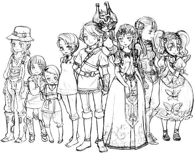 Zelda Twilight Princess Characters Cast On Pencil Legend