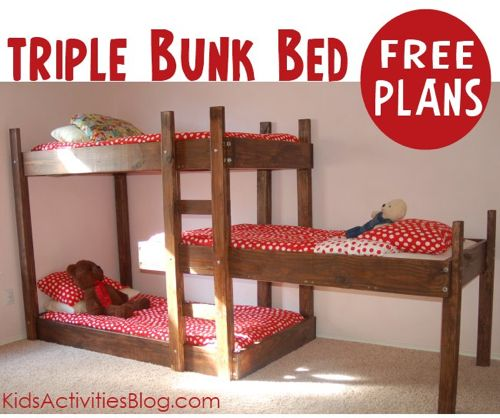 How To Make Triple Bunk Beds Homestead And