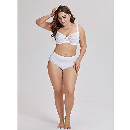 f9981b9ac0e DELIMIRA Women s Sexy Sheer Lace Bra Non Padded Underwire Balconette Plus  Size