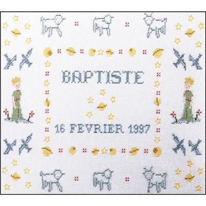 Kit point de croix - Tableau de naissance Le petit prince - Princesse | Kit point de croix, Le ...