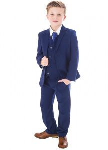 91e7c04306e91 Royal Blue 5 Piece Slim Fit Suit | Baby | Boys | Wedding Suit -  childrensspecialoccasionwear.co.uk