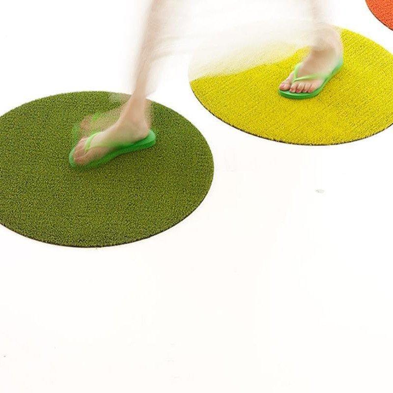 Chilewich Shag Dot Round Floor Mat 24 Quot Floor Mats