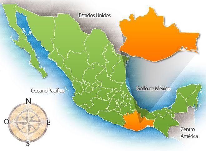 Oaxaca Estados De Mexico Mapa De Mexico Mapa De Oaxaca Coahuila Mexico