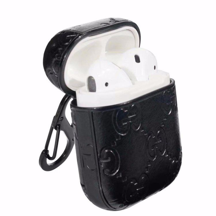 Bootleg Black Gucci Airpods Case Distressed Leather Belt Airpod