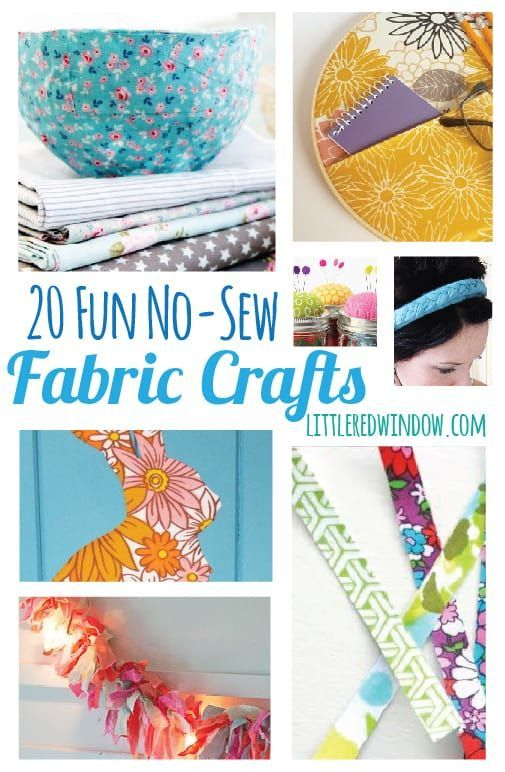 20 Fun No-Sew Fabric Crafts - Little Red Window -   19 fabric crafts for kids no sew ideas