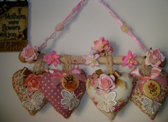 Shabby chic lavender hearts by jh adorno y - Manualidades shabby chic ...