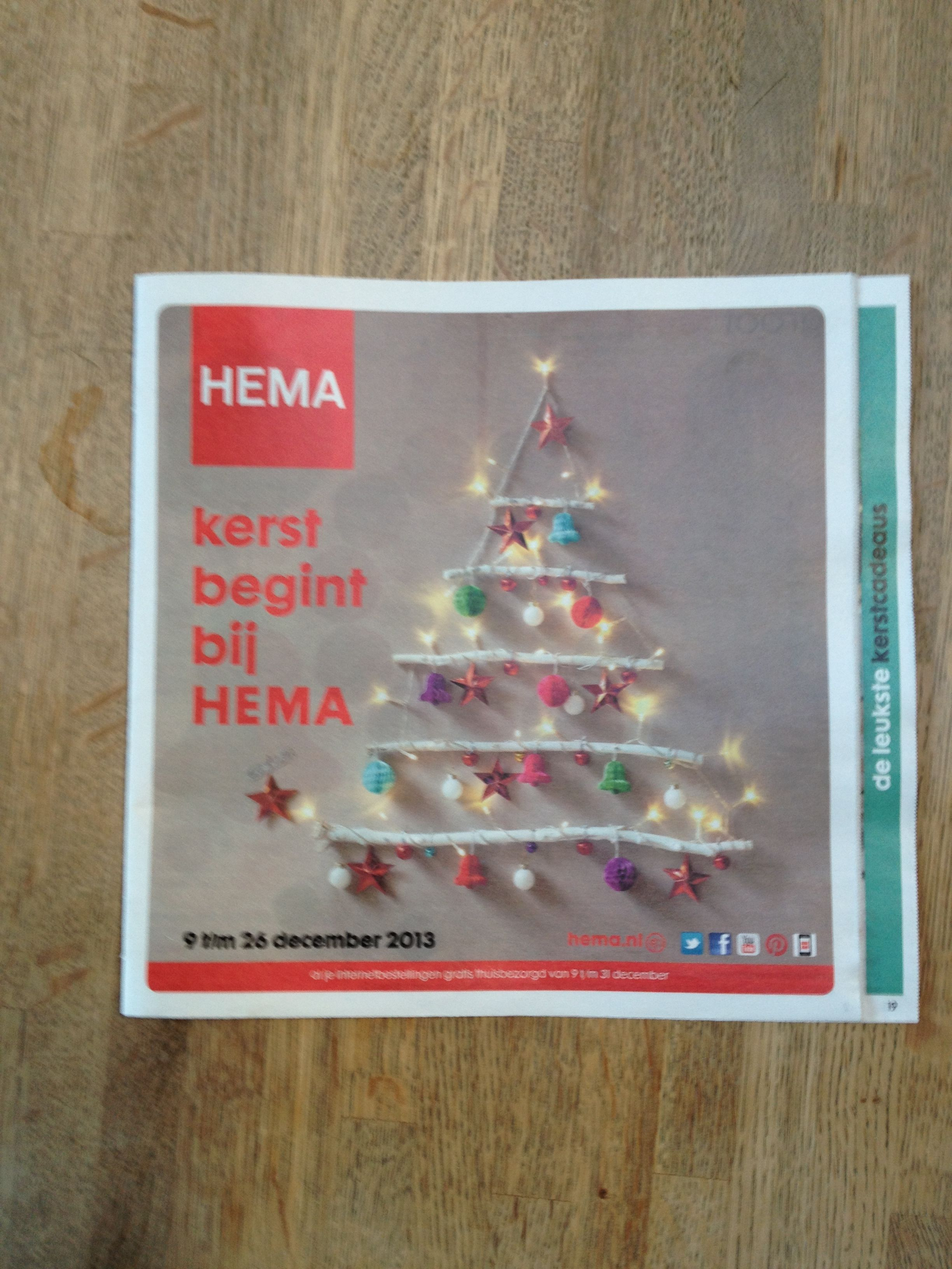 Kerst Folder Van De Hema Extra Producten Onder De Aandacht Brengen