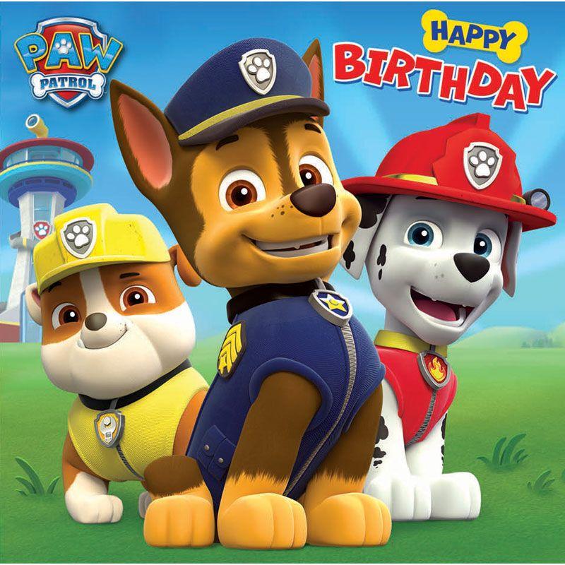 Paw Patrol Paw Patrol Birthday Card