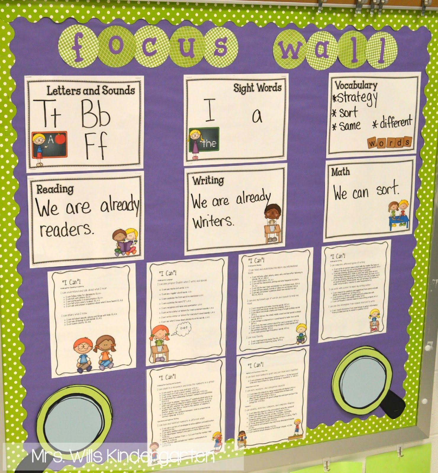 Focus Wall In Kindergarten