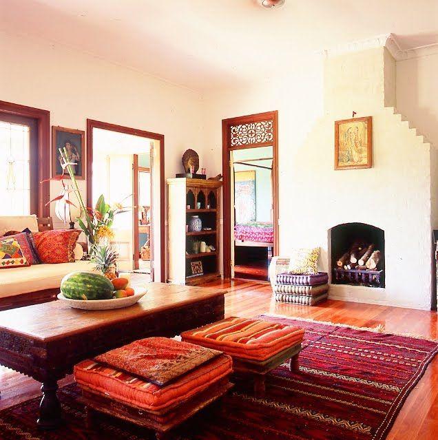 wohnzimmer mit marokkanischer einrichtung Home decor Pinterest - wohnzimmer gemutlich dekorieren