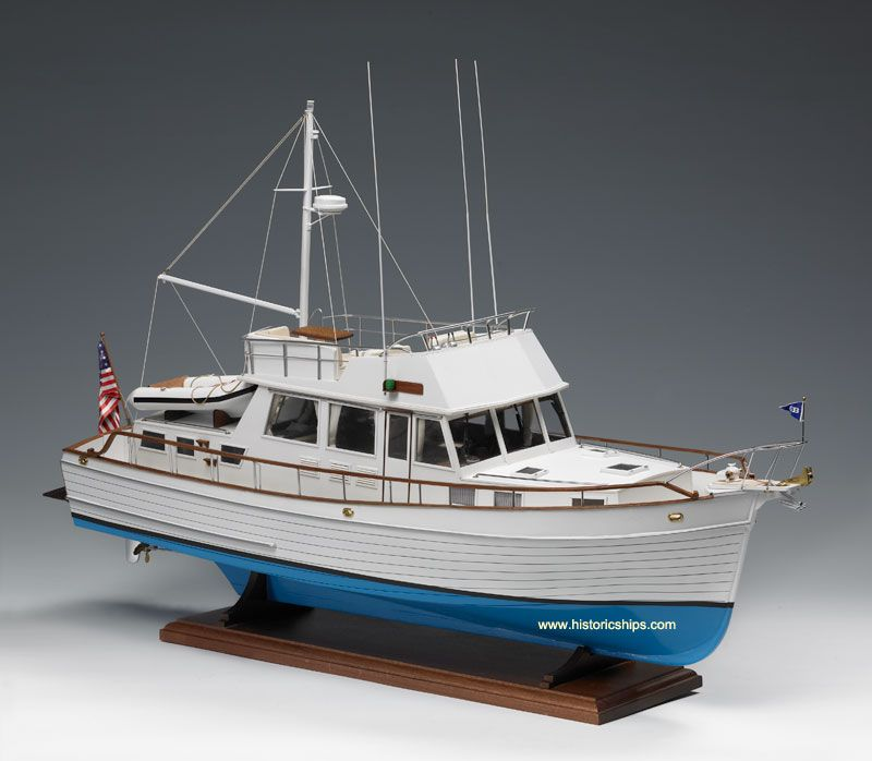 GRAND BANKS 46 - Model Boat Kit Grand Banks 46 by Amati Models | Models fishing boats ...
