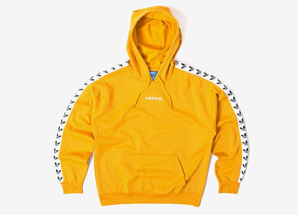 Una buena amiga realeza bueno  adidas Originals TNT Trefoil Tape Pullover Hoody - Yellow | Yellow adidas, Yellow  hoodie, Yellow sweatshirt