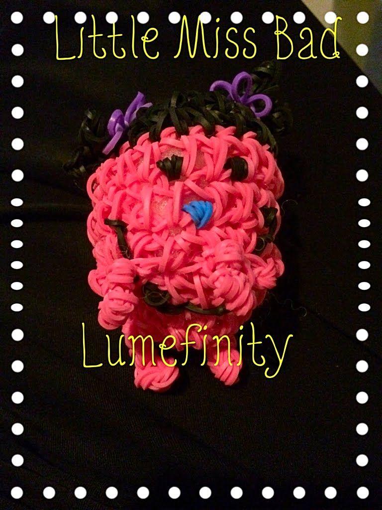 Rainbow Loom Bands Little Miss Bad 3D - Loomless Amigurumi Figure by Lumefinity-How to DIY.