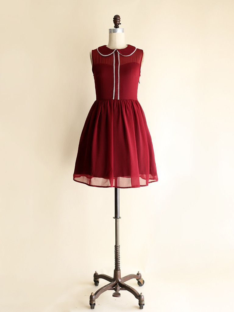 Eve Claret Lace Burgundy Dress Retro Inspired Dress Red Dress Party