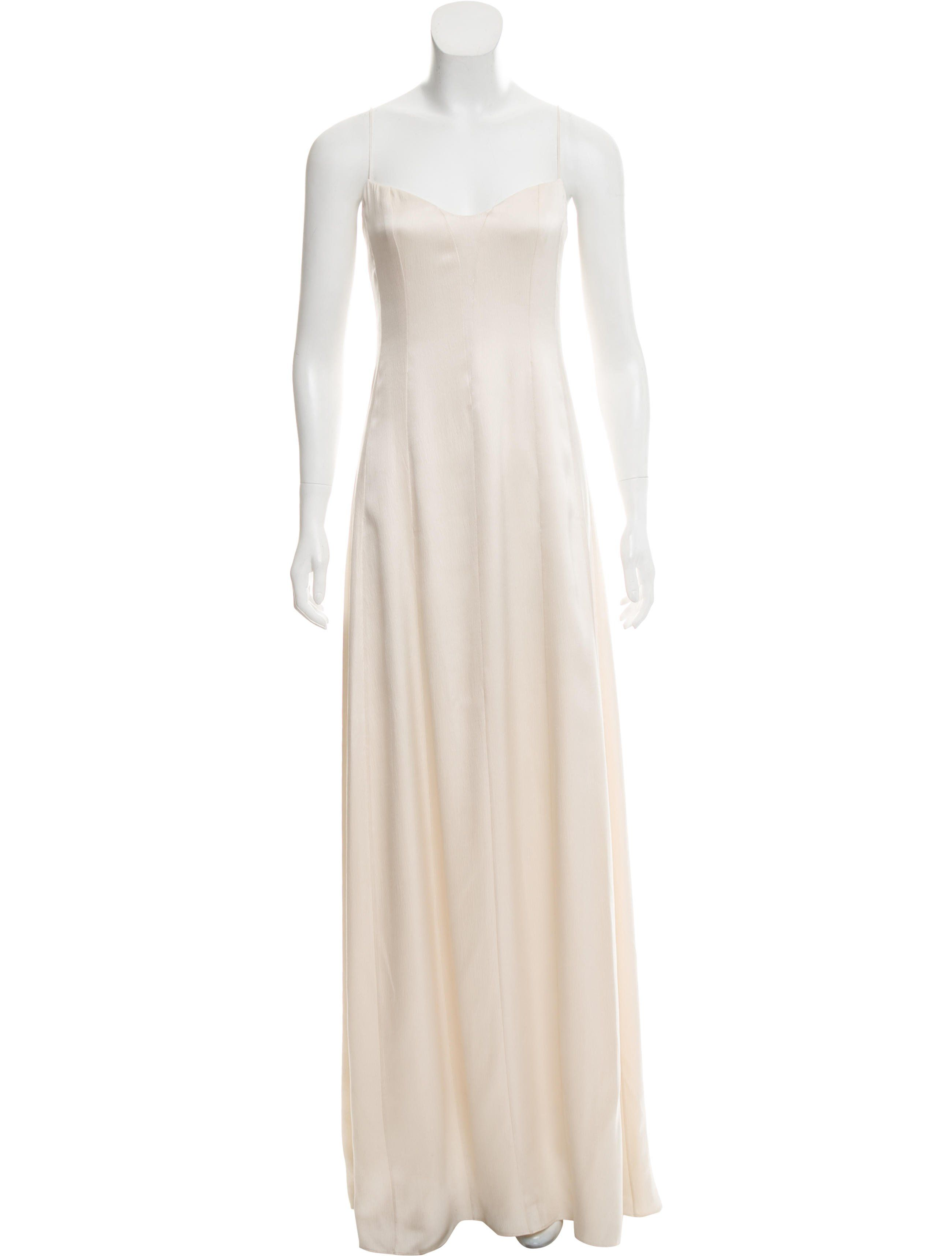 b3a7712bbe Creme Narciso Rodriguez sleeveless evening dress with spaghetti straps
