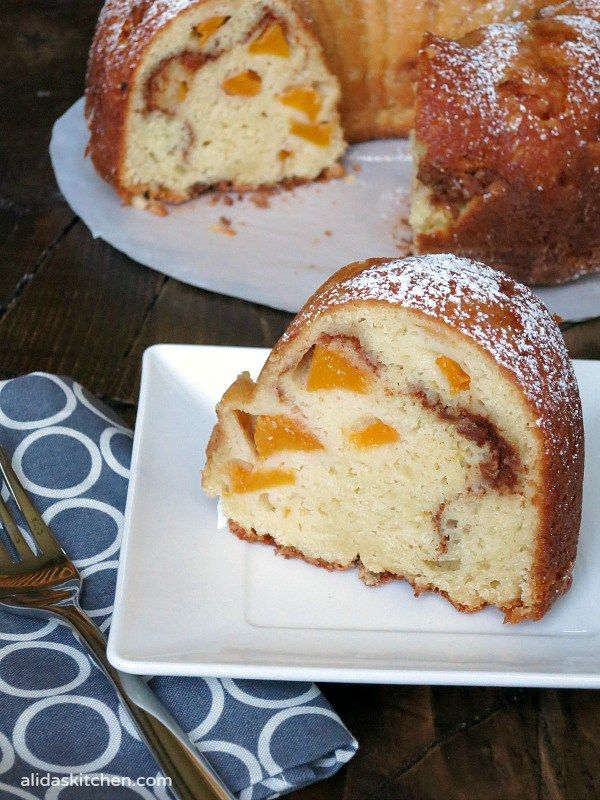 Peach Buttermilk Bundt Cake Alida S Kitchen Recipe Cake Recipes Pound Cake Recipes Bakery Cakes