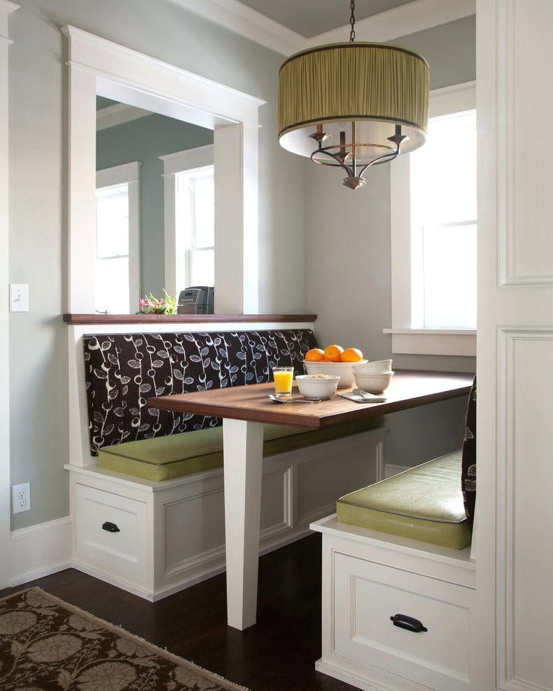 Image Result For Ideas For Small Kitchen Alcoves Booth Seating In Kitchen Kitchen Booths Transitional Dining Room