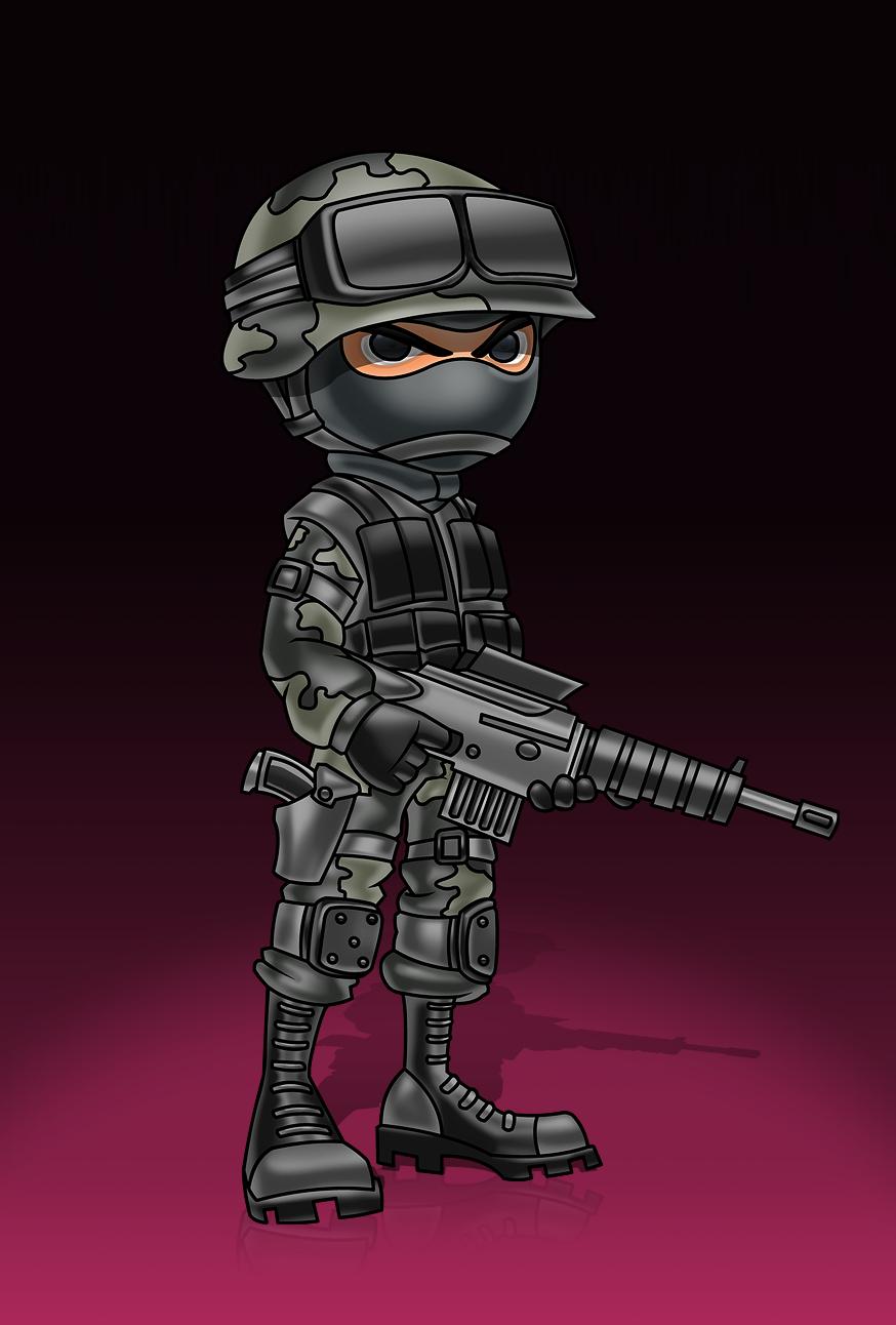 Swat Avatar Graphic War Art Military Art Japan Art