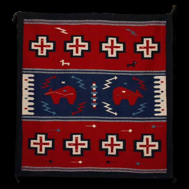 Tapis En Laine Dessin Navajo