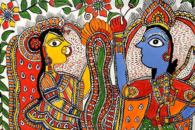 Ambapali Bihar Emporium In Delhi Madhubani Art Of Bihar Indian