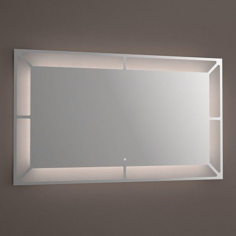 Miroir Lumineux Led Salle De Bain Anti Buee 120x70 Cm Idlight Wide Miroir Lumineux Led Miroir Lumineux Led Salle De Bain
