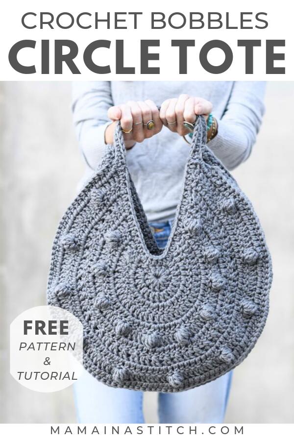 Bobbles Circle Tote Free Crochet Pattern Bobbles Circle Tote Free Crochet Pattern