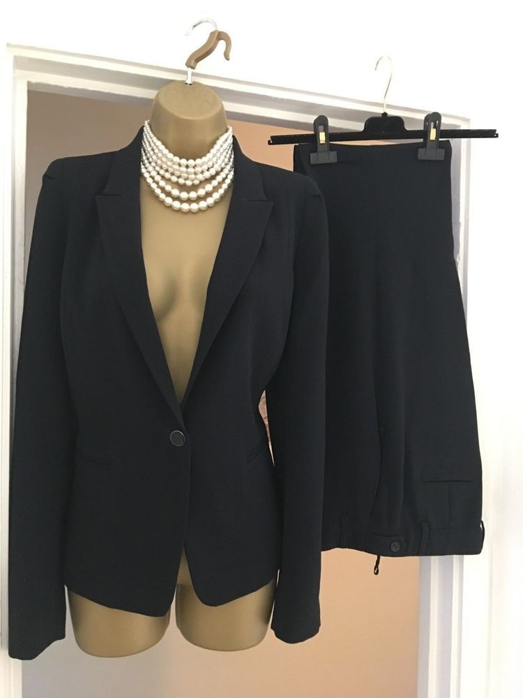 ba8f3f6b753a4 Gerard Darel Blue Trousers Blazer Suit Office Work Day Evening Sz 38 10   fashion  clothing  shoes  accessories  womensclothing  pants (ebay link)