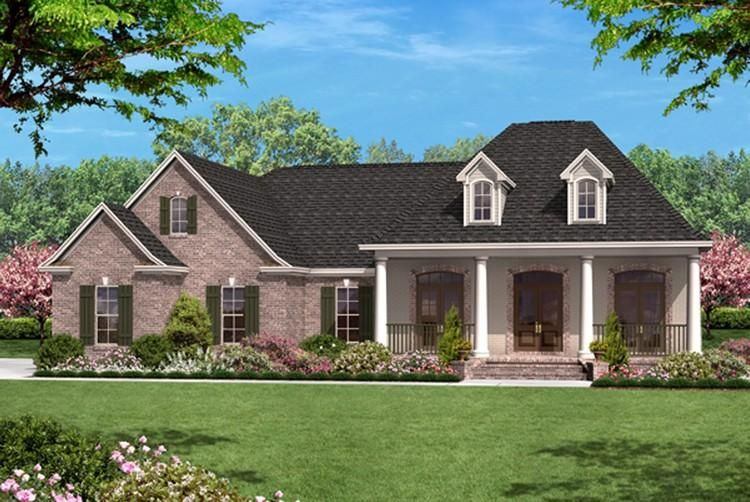 House Plan 041 00058 French Country Plan 1 500 Square Feet 3 Bedrooms 2 Bathrooms Country Style House Plans Traditional House Plans French Country House Plans