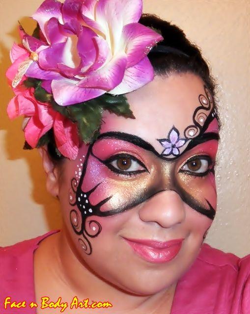 fairy+butterfly+face+paintJPG (509×640) Adult Face Paint Designs - face painting halloween ideas