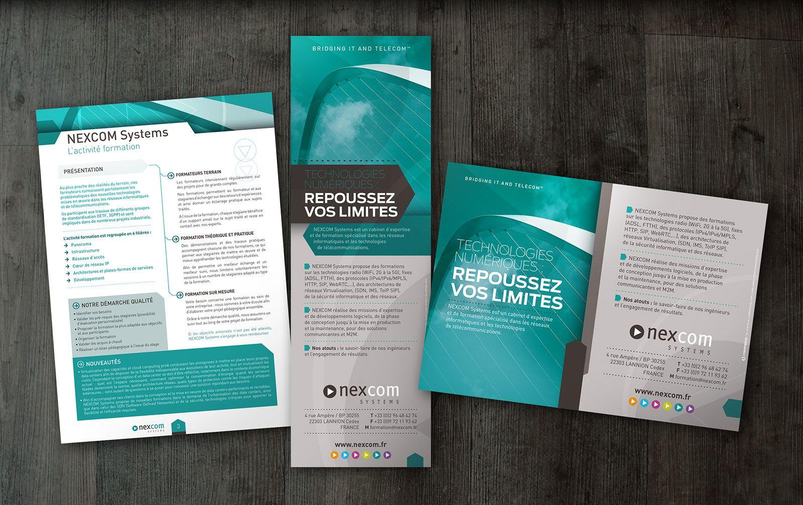 Rseaux Informatiques Et Les Technologies De Tlcommunications Identit Visuelle Catalogue Fiches Carte Visite Drouleur Encart Presse