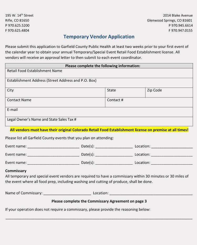 Vendor Application Form Template Inspirational 9 Printable Blank Vendor Registration Form Templates For Executive Resume Template Registration Form Templates