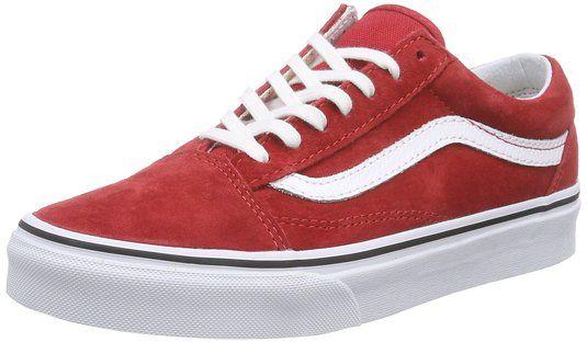Vans Old Skool Unisex Adults Low Top Sneakers Red 11 Uk Vans Old Skool Sneakers Vans