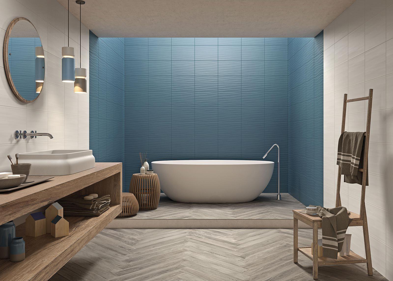 Neutral Marazzi Bathroom Decoration Walltiles Ceramics Blue Woodtiles Blue Bathroom Tile Blue Shower Tile Easy Bathroom Decorating