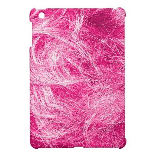 Curly Pink Hair iPad Mini Case