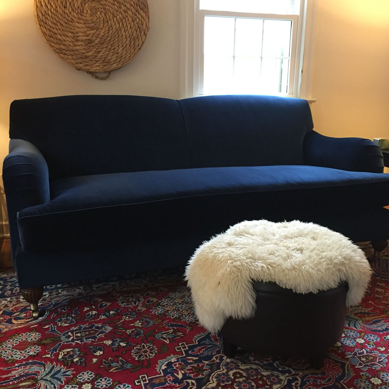 Living Room Sofa From Comfortable Couch Company Blue Velvet