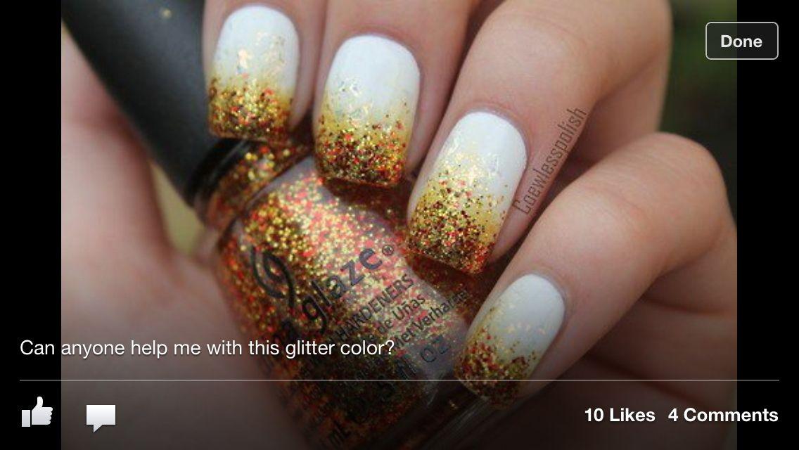 Autumn nail glitter | Nails That Don\'t Fail | Pinterest | Autumn ...
