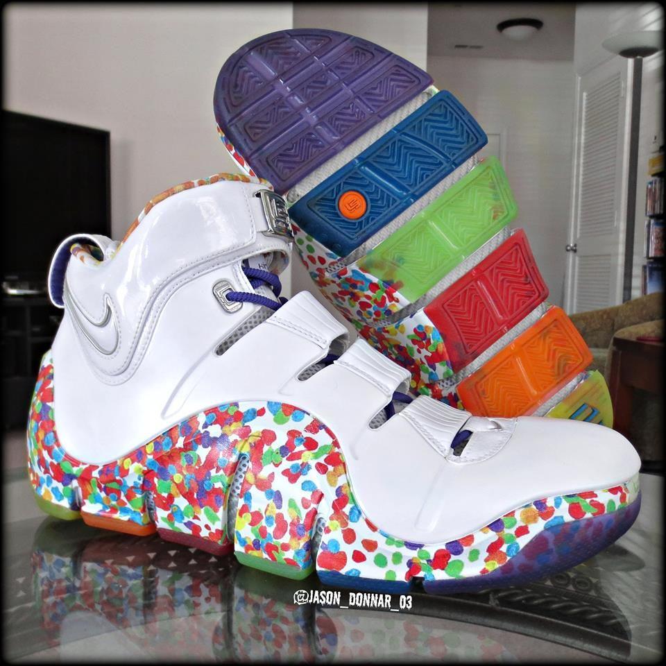 """9b77492b0c4b9 Nike Zoom LeBron IV """"Fruity Pebbles"""""""
