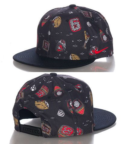 NIKE Scottie Pippen snapback cap Adjustable strap for comfort All-over  championship rings print on