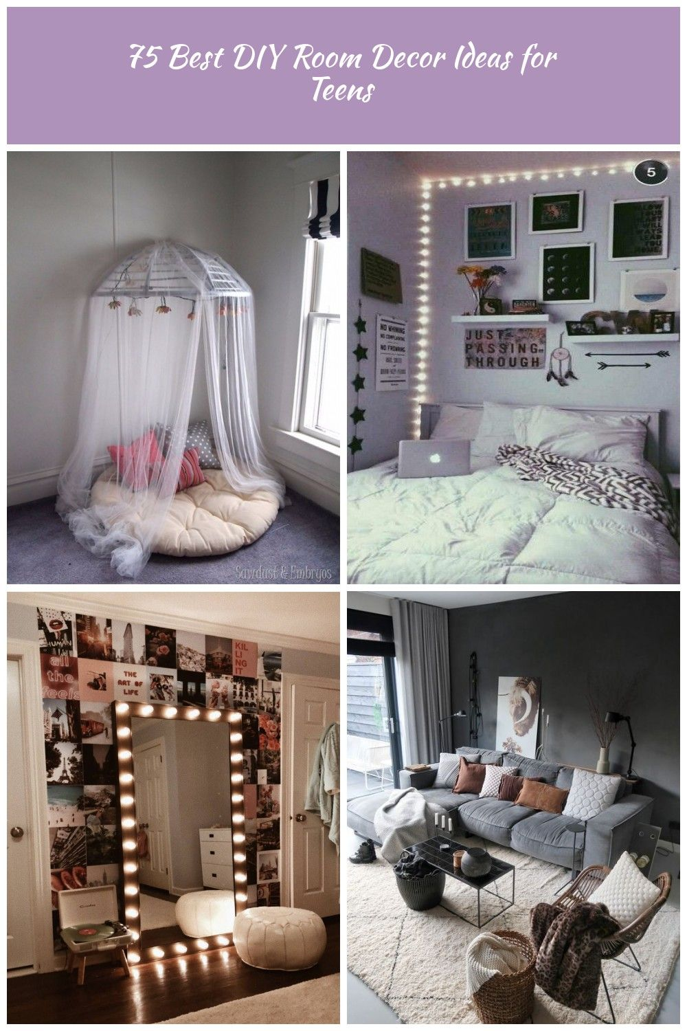 Best Diy Room Decor Ideas For Teens And Teenagers Diy Canopy