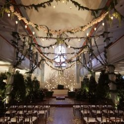 This Bride And Groom Transformed Their Wedding Chapel Into A Whimsical Enchanted Forest