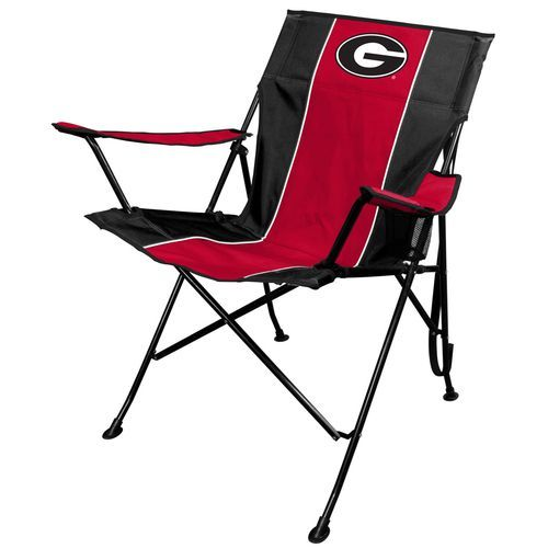TLG8 University Of Georgia Tailgate Chair Red/Black   Patio Furniture/Accessories,  Collapsible