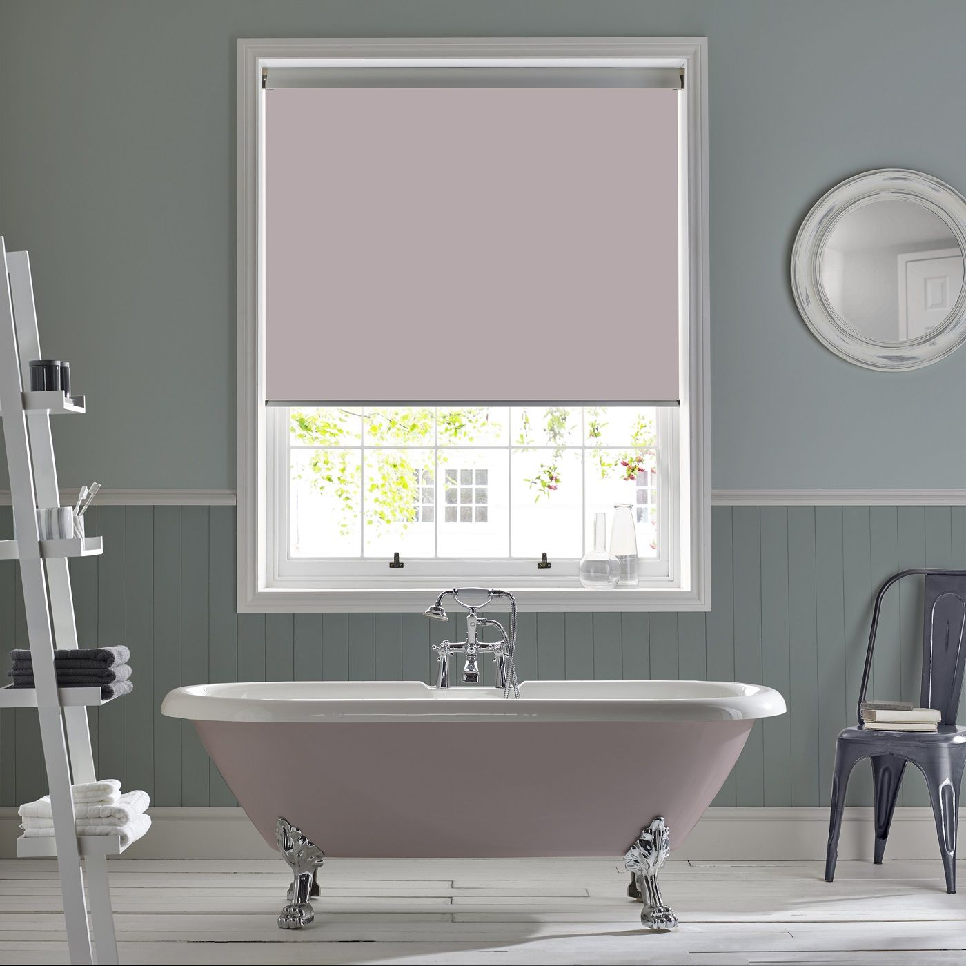 Bathroom Roller Blind In Palette Dusk From Style Studio Heart