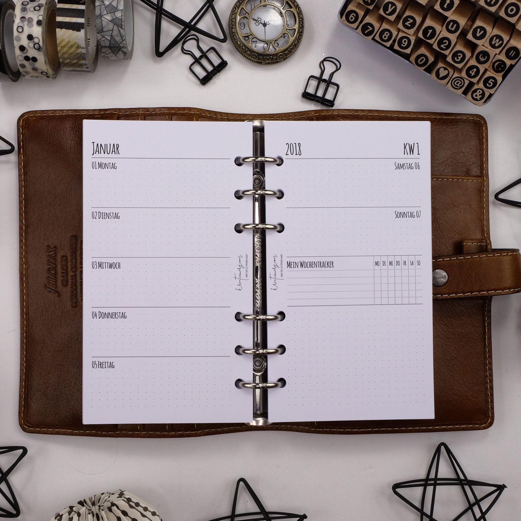 filofaxing Terminplaner Notizen Kalendereinlagen Dotted in Personal refill