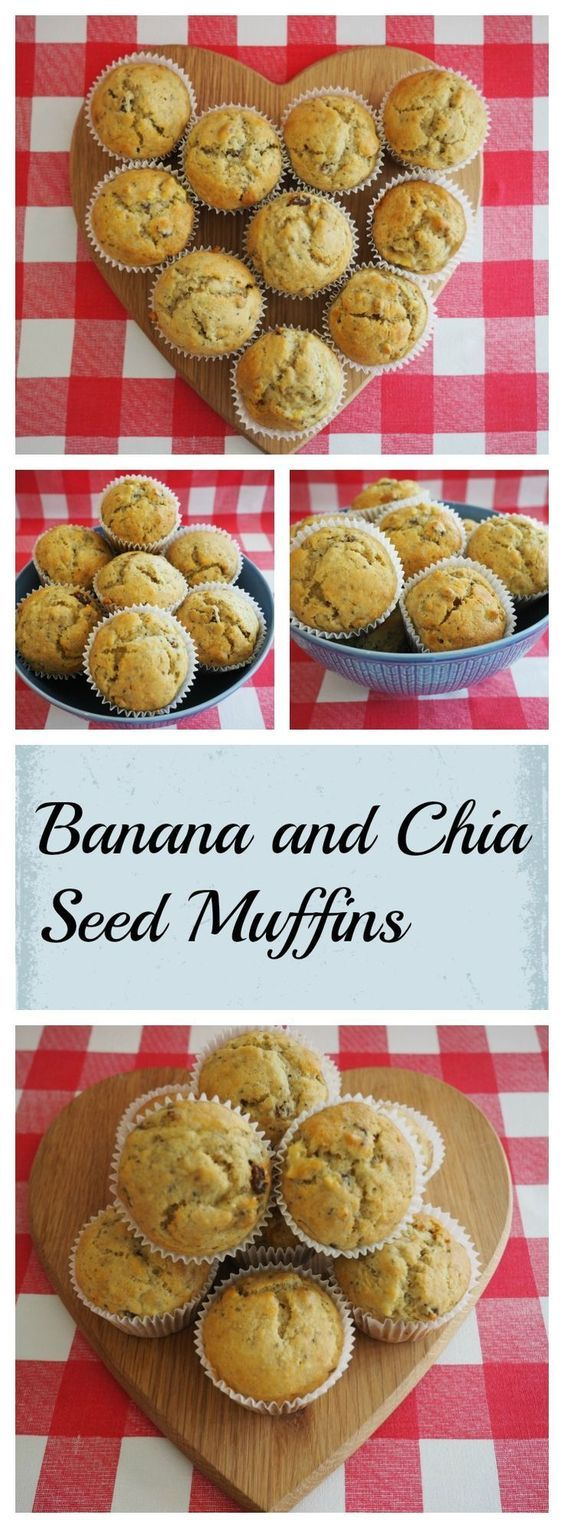 Banana and Chia Seed Muffins - delicious healthy muffins your family will love!