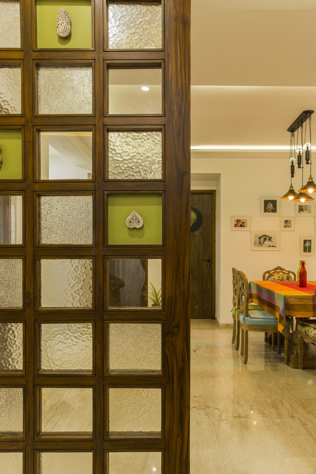 Fusion Of Modern And Traditional House Room Door Design Living