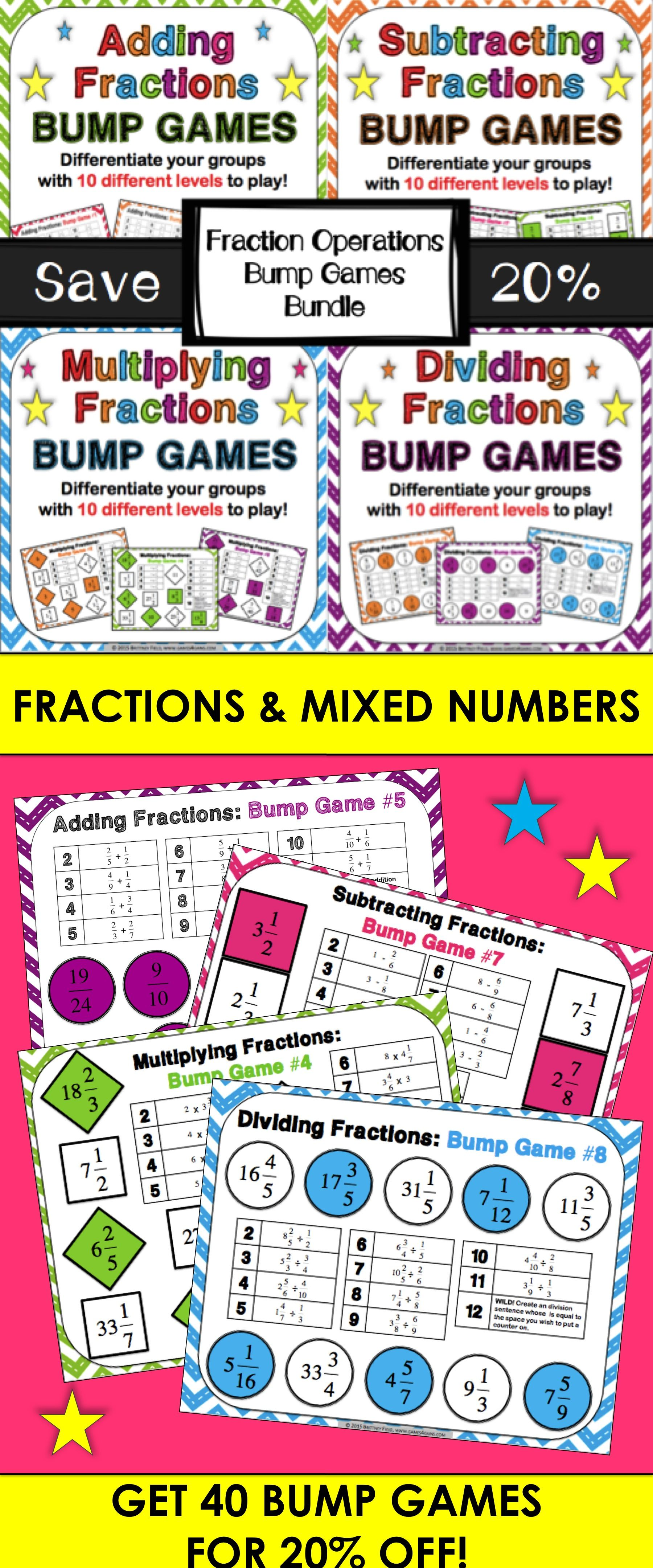 Add Fractions Subtract Fractions Multiply Fractions