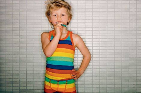 One of our favourites from yester-year: Rainbow Striped vest & pants by Molo. Hoping they'll bring it back one day...