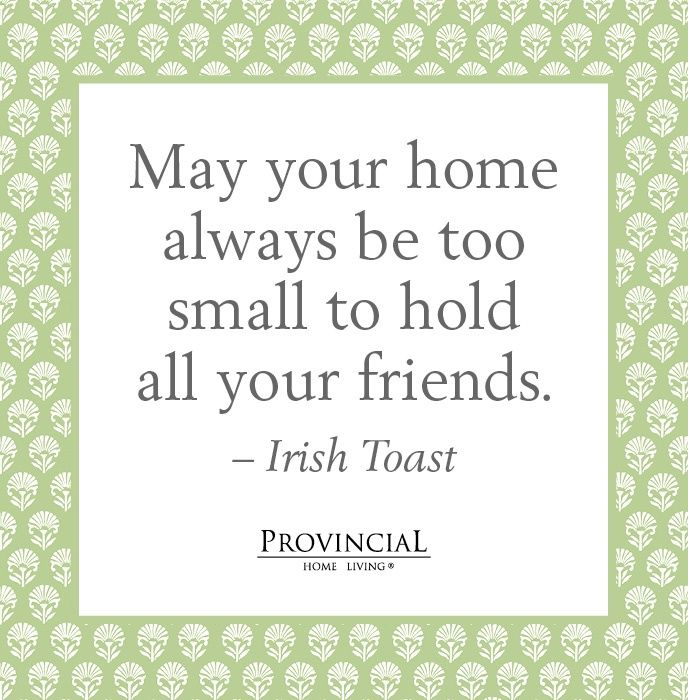 An Irish Toast - Cute For A House Warming