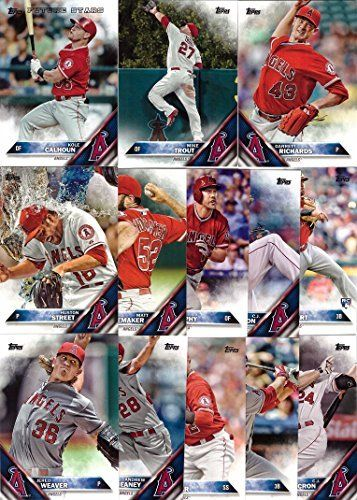 2016 Topps Series 1 Los Angeles Angels Baseball Card Team Set 13