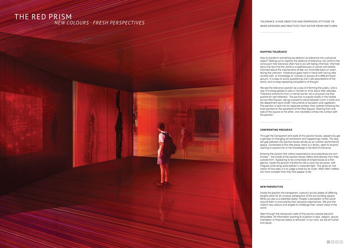 2nd price #Red_Square_Tolerance_Pavillion @HMMD Architecture Competitions @Homemade Dessert Check it out on http://www.nipmagazine.it/blog/240/red-square-tolerance-pavilion